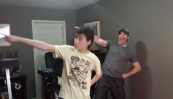 """Just Dance"" with Dad"
